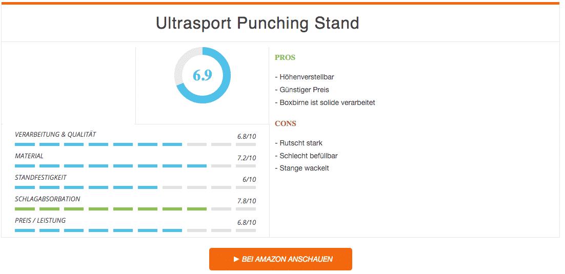 Ultrasport Punching Stand Ergebnis