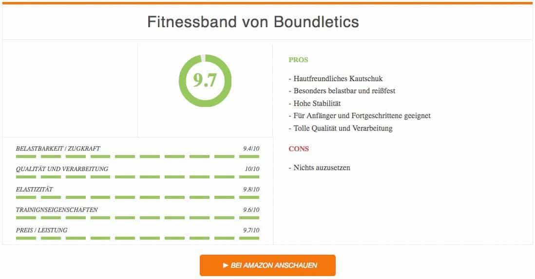 Boundletics Fitnessband Test Vergleichssieger Auswertung