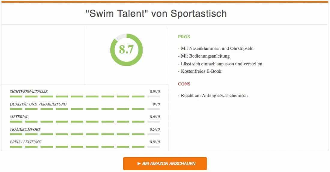 Ergebnis zur Swim Talent von Sportastisch