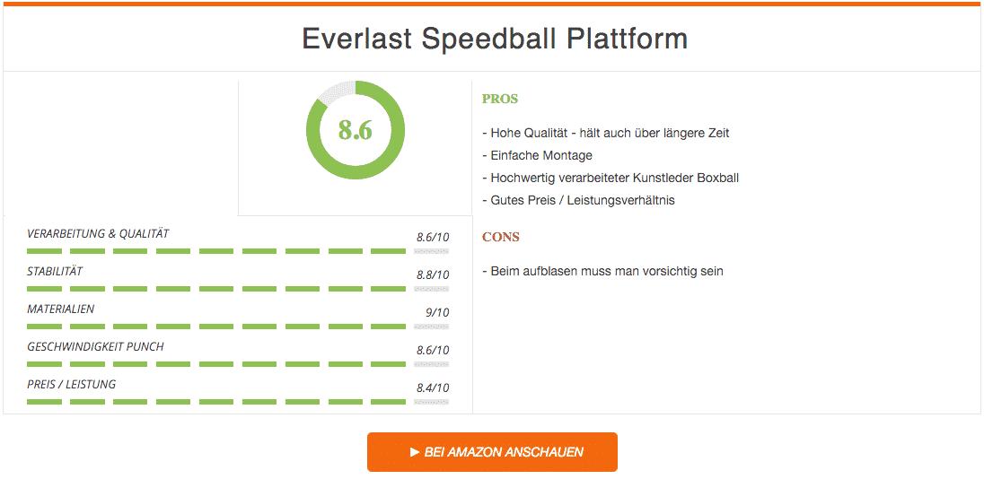 Everlast Speedball Plattform Ergebnis