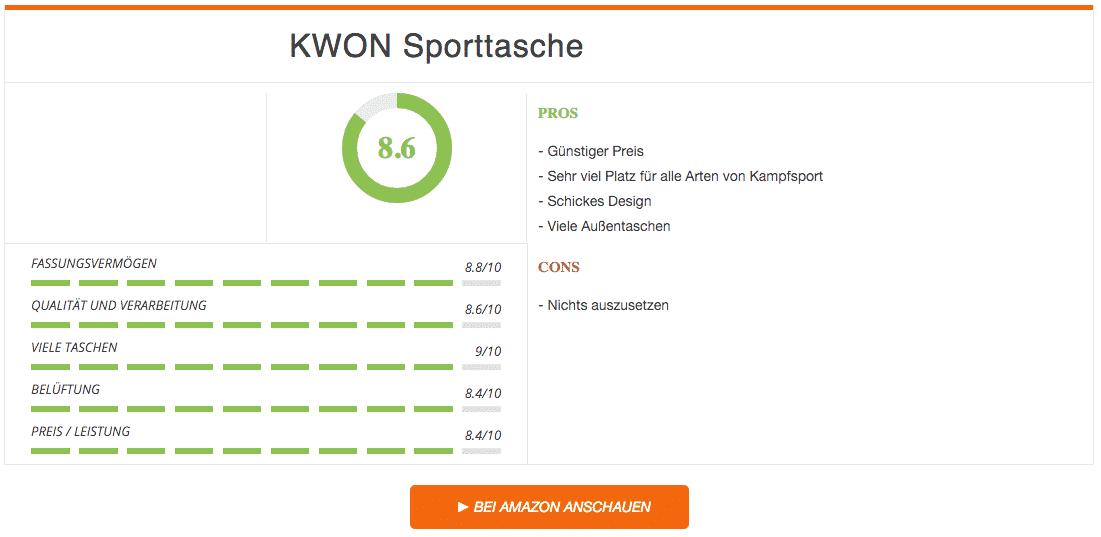 KWON Sporttasche Schwarz Rot Ergebnis