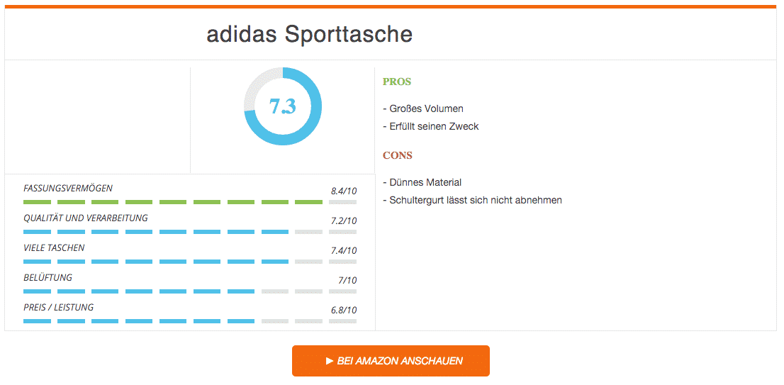 adidas Sporttasche im Test
