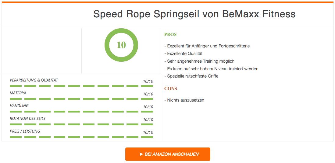 Speed Rope Springseil BeMaxx Fitness Ergebnis