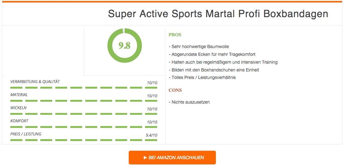 Ergebnis Super Active Sports Martal Profi Boxbandagen