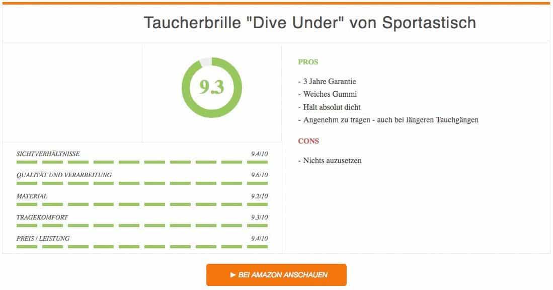 Ergebnis zur Taucherbrille Dive Under von Sportastisch