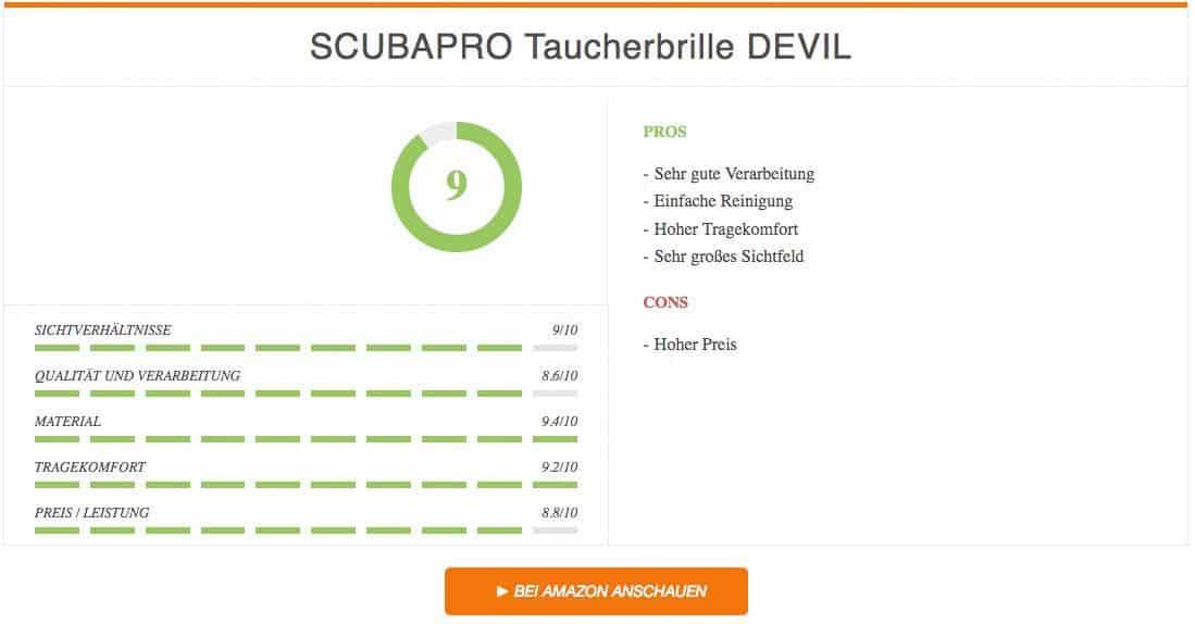 Ergebnis zur SCUBAPRO Taucherbrille DEVIL