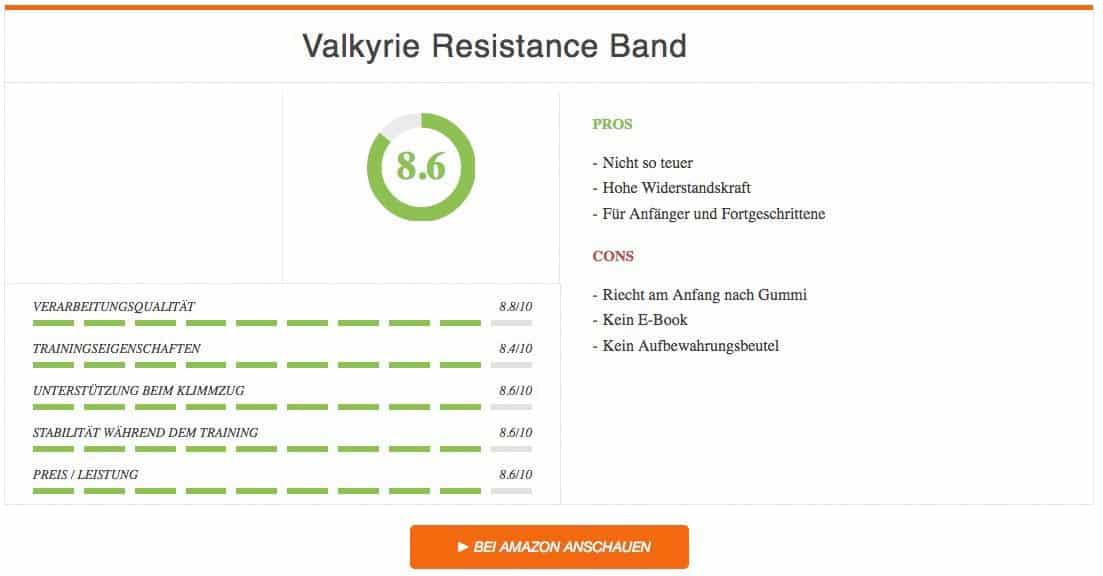 Valkyrie Resistance Bands im Klimmzugband Test Ergebnis