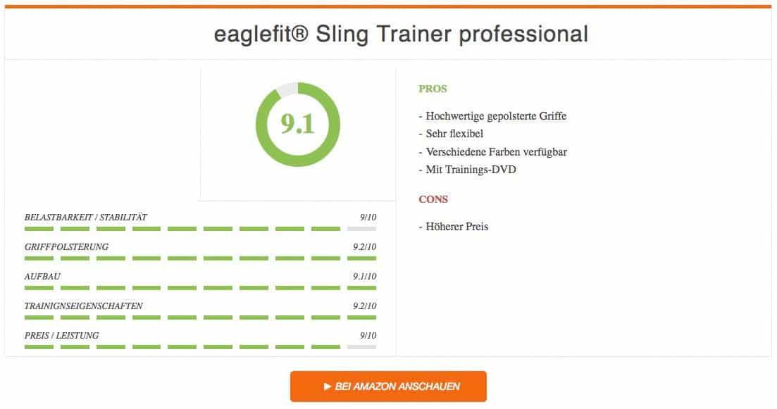 eaglefit Sling Trainer professional Schlingentrainer Test Ergebnis