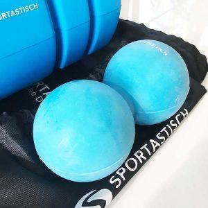 Ein Doppel-Massageball wurde auch mitgeliefert
