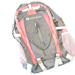Relativ platt wirkt der Rucksack, wenn man ihn auspackt