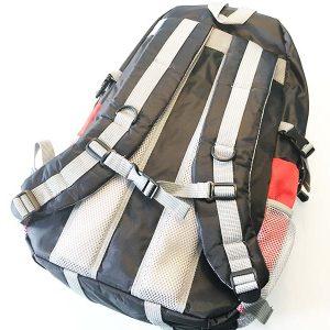 So sieht der Rucksack von hinten aus