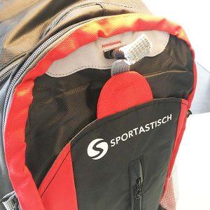 So sieht der Rucksack von vorne aus